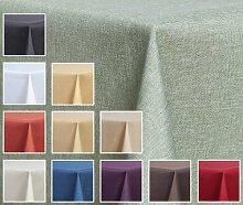 Textil TISCHDECKE - Leinen Optik - Wasserabweisend