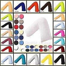 Textile Online * * ANGEBOT * * V Form Nackenstützkissen mit gratis Kissen Fall Aqua