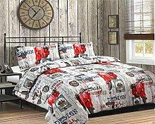 Textile Online 3-Teilig Bettwäsche Bettbezug mit Kopfkissenbezügen Italien SPECIAL Bettwäsche-Set, King Size