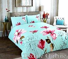 Textile Online Neuheit Bettbezug mit Kissen Fall Betten-Baumwoll-Mischgewebe, gesteppt, Stella Duckegg, King Size