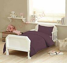 Textile Online Unisex 4PCS SET für Kinderbett, Betten, Bettdecke und Kopfkissen, Bettdecke 120x 150cm Plum Wine