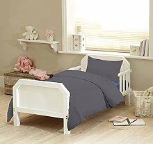 Textile Online Unisex 4PCS SET für Kinderbett, Betten, Bettdecke und Kopfkissen, Bettdecke 120x 150cm Grau