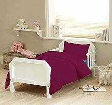 Textile Online Unisex 4PCS SET für Kinderbett, Betten, Bettdecke und Kopfkissen, Bettdecke 120x 150cm pflaume
