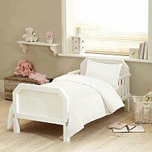 Textile Online Unisex 4PCS SET für Kinderbett, Betten, Bettdecke und Kopfkissen, Bettdecke 120x 150cm Weiß