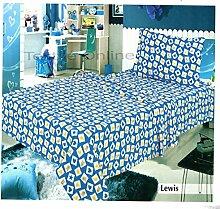 Textile Online Unisex Baby Bett Set Thermo für Allergiker Spannbetttuch, Bettlaken mit Kissen Fall Lewis