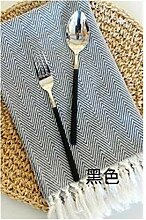 Textile Serviette mit Quaste Handgemachte