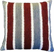 Textiles El Cid Algeciras C/7Kissenbezug, aus Polycotton, grau/bordeaux, 50x 25x 1cm