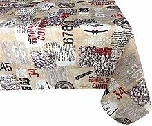 Textiles el Cid Coffee Tischdecke resinado, schmutzabweisend, aus Polycotton, Beige, 35x 35x 2.10cm