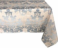 Textiles el Cid Malta resinado Tischdecke, schmutzabweisend, aus Polycotton, Beige und Grau, 35x 35x 1.90cm