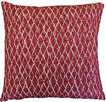 Textiles El Cid Mijas C/7Kissenbezug, aus Polycotton, Weinrot, 50x 25x 1cm