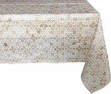 Textiles el Cid Mosaik resinado Tischdecke, schmutzabweisend, aus Polycotton, Beige, 35x 35x 1.90cm