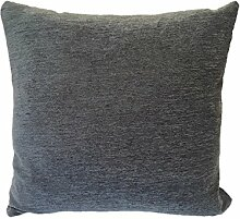 Textiles el Cid Runde C/10Kissenbezug, Samt, anthrazitgrau, 50x 25x 1cm
