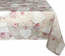 Textiles el Cid Sardinien resinado Tischdecke, schmutzabweisend, aus Polycotton, Beige und Pink, 35x 35x 2.10cm