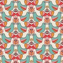 Textiles français Stoff   'Birds of a