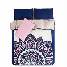 Textilhaus 3D Nationale Windbannfarbe Einfache Vierköpfige Familie (Bettwäsche Bettdecke Kissenbezüge),B-1.2m(4ft)A