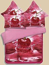 Textilhaus 3D-Rose Blumen-Sonnenblumen Einfache Vierköpfige Familie (Bettwäsche Bettdecke Kissenbezüge),A-1.5m(6ft)A
