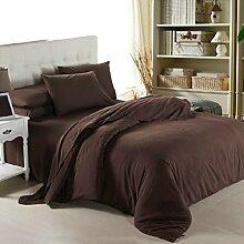 Textilhaus 3D-Solid-dreiteilig Einfache Einzel Hotel (Bettwäsche Bettdecke Kissenbezüge),D-1.8m(6ft)B