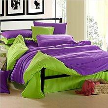 Textilhaus Larry Einfache Feste Farbe 3D-Textil Vierköpfige Familie (Bettwäsche Bettdecke Kissenbezüge),27-1.5m(5ft)A