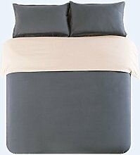Textilhaus Larry Einfache Feste Farbe 3D-Textil Vierköpfige Familie (Bettwäsche Bettdecke Kissenbezüge),24-1.2m(4ft)B