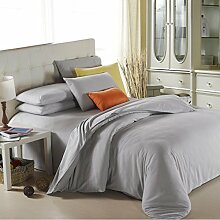 Textilhaus Larry Einfache Feste Farbe 3D-Textil Vierköpfige Familie (Bettwäsche Bettdecke Kissenbezüge),17-1.8m(6ft)B