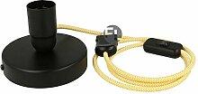 Textilkabel lampe schwarz geeignet als Wandlampe