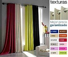 Texturas Home Secret Foscurit Ösenvorhang mit Blackout-Effekt, 260x140cm, verschiedene Farben erhältlich pistazie