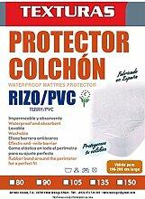 Texturen Home–Matratzenschoner Atmungsaktiv Frottee/PU (erhältlich in verschiedenen Größen) 180 x 200 cm