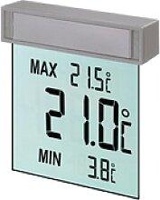 TFA Digitales Fenster-Thermometer Vision Grau