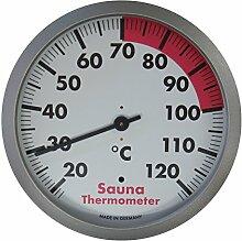 TFA Dostmann 40.1053.50 Sauna Thermometer mit Ring aus Polycarbonat, Weiß, 12 x 12 x 4 cm