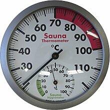 TFA Dostmann, Sauna Thermo-Hygrometer, Weiß, 12 x 12 x 3 cm