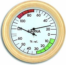 TFA SAUNA Thermometer THERMO Hygrometer Abachi-weiß 401006