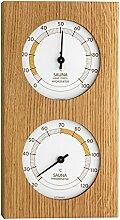TFA SAUNA Thermometer THERMO Hygrometer Eiche-weiß 40105201