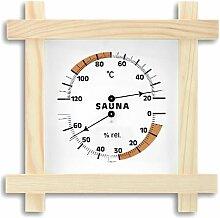 TFA SAUNA Thermometer THERMO Hygrometer Kiefer-weiß 401008