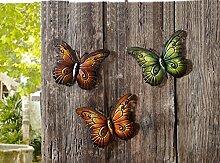 TFH Wanddeko Schmetterling 3er Set bunt Metall