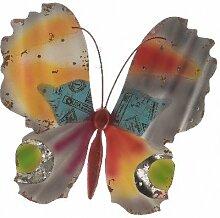 TFH Wanddeko Schmetterling bunt XXL Metall