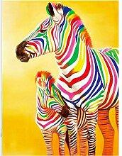 TFjXB 5D Diamant Malerei Voll Tierfarbe Zebra