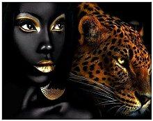 TFjXB Frauen Leopard Diamantstickerei 5d DIY
