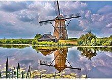 TFjXB Szenische Holland Windmühle 5D DIY