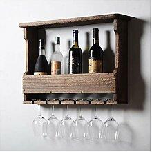 TFTREE Wand-Weinregal-Flasche und Glas schwimmende