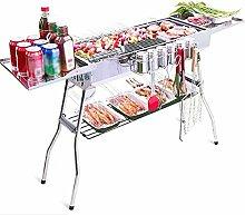 TGFVGHB Edelstahlgrill für Picknick, Camping,