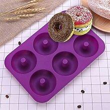 TGSEA Donut-Form Silikon Donut Backform 6 Mulden