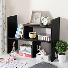 TH Modernes minimalistisches Bücherregal-Speicher-Regal-Schreibtisch-teleskopisches kleines Bücherregal-kreatives Studenten-Speicher-Bücherregal ( Farbe : Schwarz )