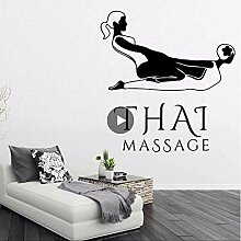 Thai Massage Vinyl Wandkunst Aufkleber