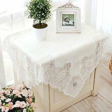 Thai-stickerei,Europäisch,White,Imitationseide,Moderne Tuch/Spitze,Stoffe,Tabelle Tuch/Runde Tischdecke/Kaffee Tischdecke-A 85x85cm(33x33inch)