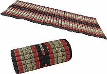 THAIMATTE Liegematte Rollmatte Yogamatte Rollmatratze Matte Liege Massage-Liege Kapokmatte 2 meter lang x 77cm breit Baumwolle Kapok Schwarz Rot KRK5