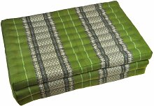 Thaimatte Yogamatte Sofa grün Blütenmuster 180 x