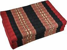 Thaimatte Yogamatte Sofa rot-schwarz