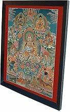 Thangka Guru Rinpoche Leinwanddruck mit schönen
