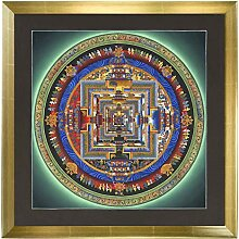 Thangka Kalachakra Mandala Leinwanddruck mit