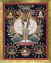 Thangka tausendarmige Avalokitesvara Leinwanddruck